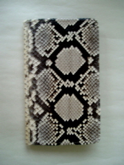 Front of the Wallet in Diamond Python Snakeskin