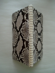The Spine of the Wallet in Backcut Python Snakeskin